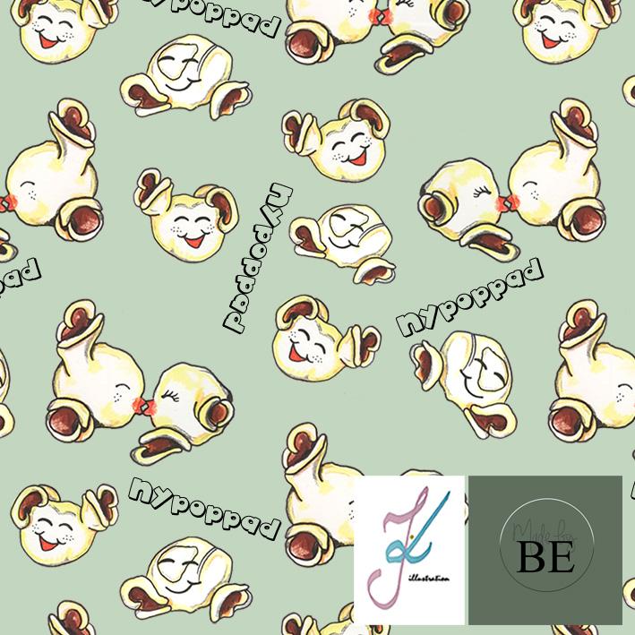 Baggybyxa - Nypoppad Mint