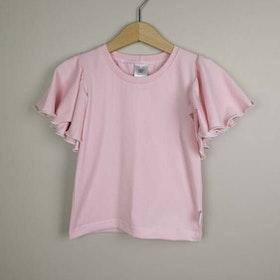 T-shirt med fjärilsärm - Rosa