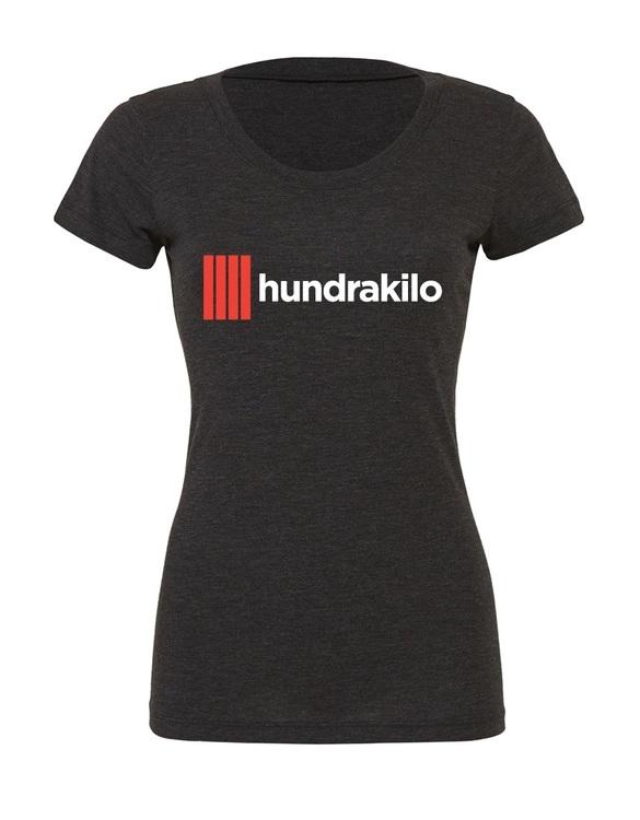 """Women's TriBlend T-Shirt """"Hundrakilo""""   Charcoal"""