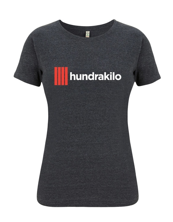Women's T-shirt hundrakilo PolyCotton | Black melange