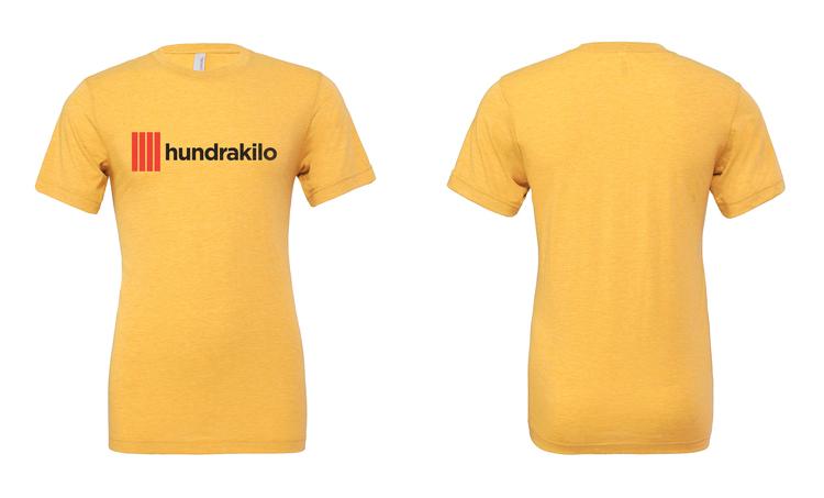 "Unisex TriBlend T-Shirt ""Hundrakilo"" | Yellow Gold"