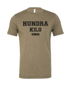 "Unisex TriBlend T-Shirt ""College""   Olive"