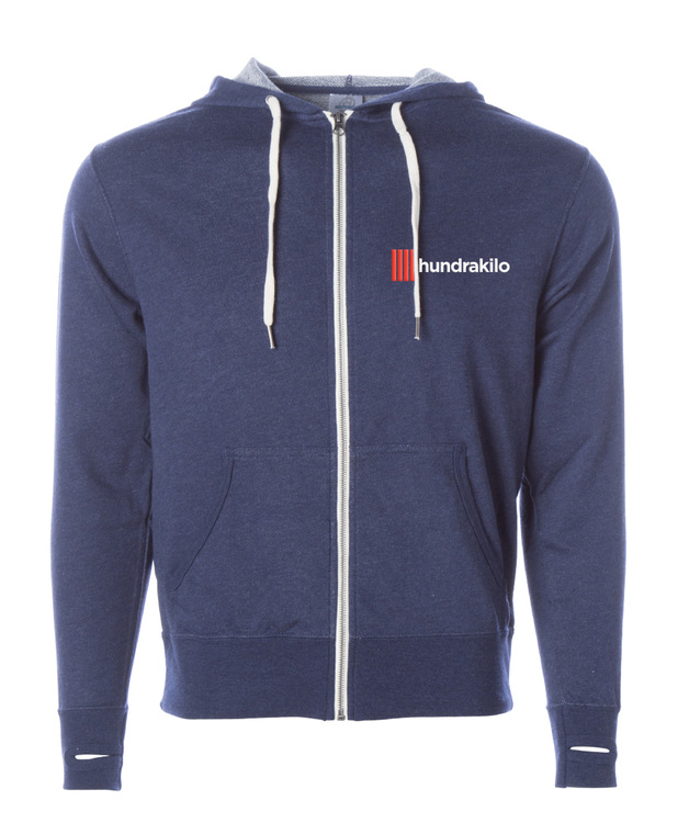 Unisex French Terry Zip Hoodie | Navy