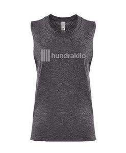"Women's Muscle Tank ""Hundrakilo"" | Charcoal"