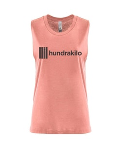 "Women's Muscle Tank ""Hundrakilo"" | Desert Pink"