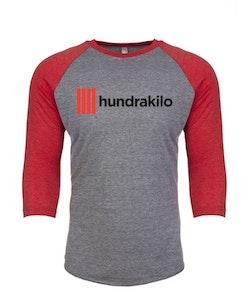 "Unisex TriBlend Baseball Jersey ""Hundrakilo"" |Vintage Red / Premium Heather"