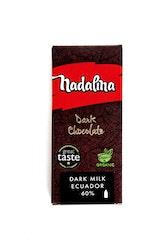 Nadalina Dark milk Organic 60% Ecuador