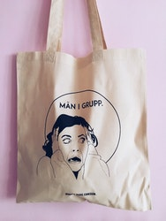 Män i Grupp Tote Bag, natural white