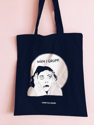 Män i Grupp Tote Bag, black