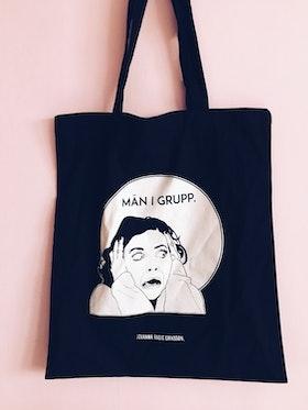 Män i Grupp Tote Bag, 2 colors
