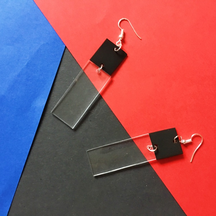 Transparent Earring, black 2