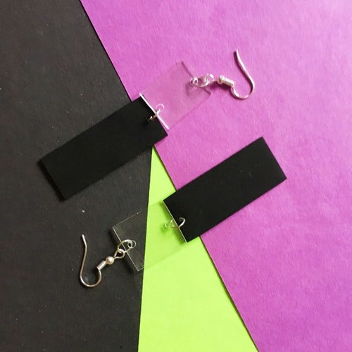 Transparent Earring, black 3
