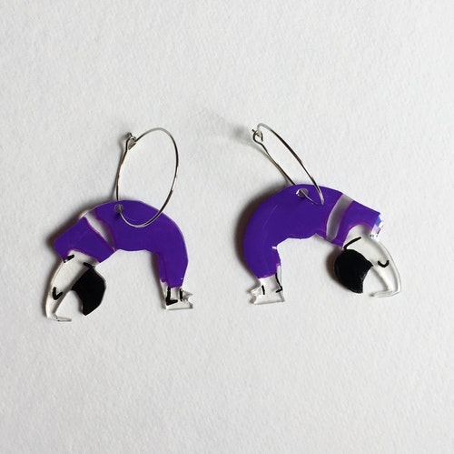 Yoga Earrings, purple