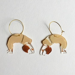 Yoga Earrings, beige
