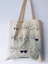 Titty Tote Bag, natural white
