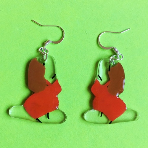 Yoga Earring, red