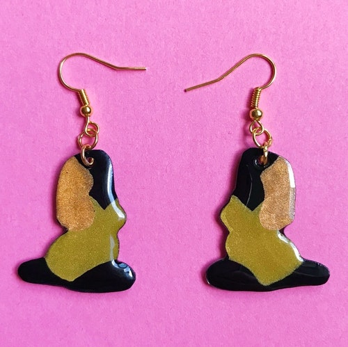 Yoga Earring, gold