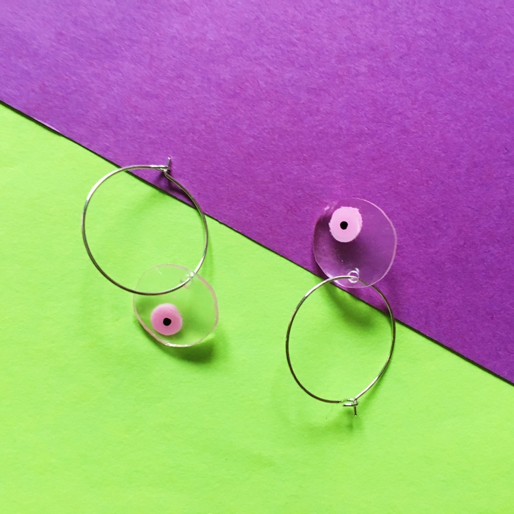 Titty Earring Small Transparent, 2 colors
