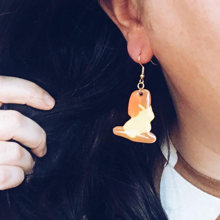 Yoga Earring, Yellow/orange