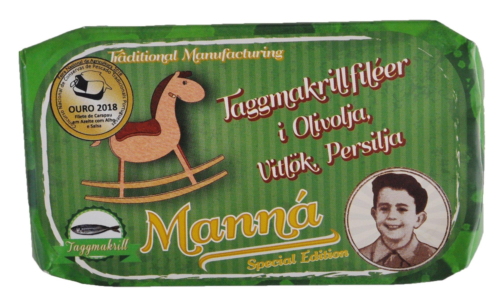 Taggmakrillfiléer i Olivolja, Vitlök & Persilja x 2