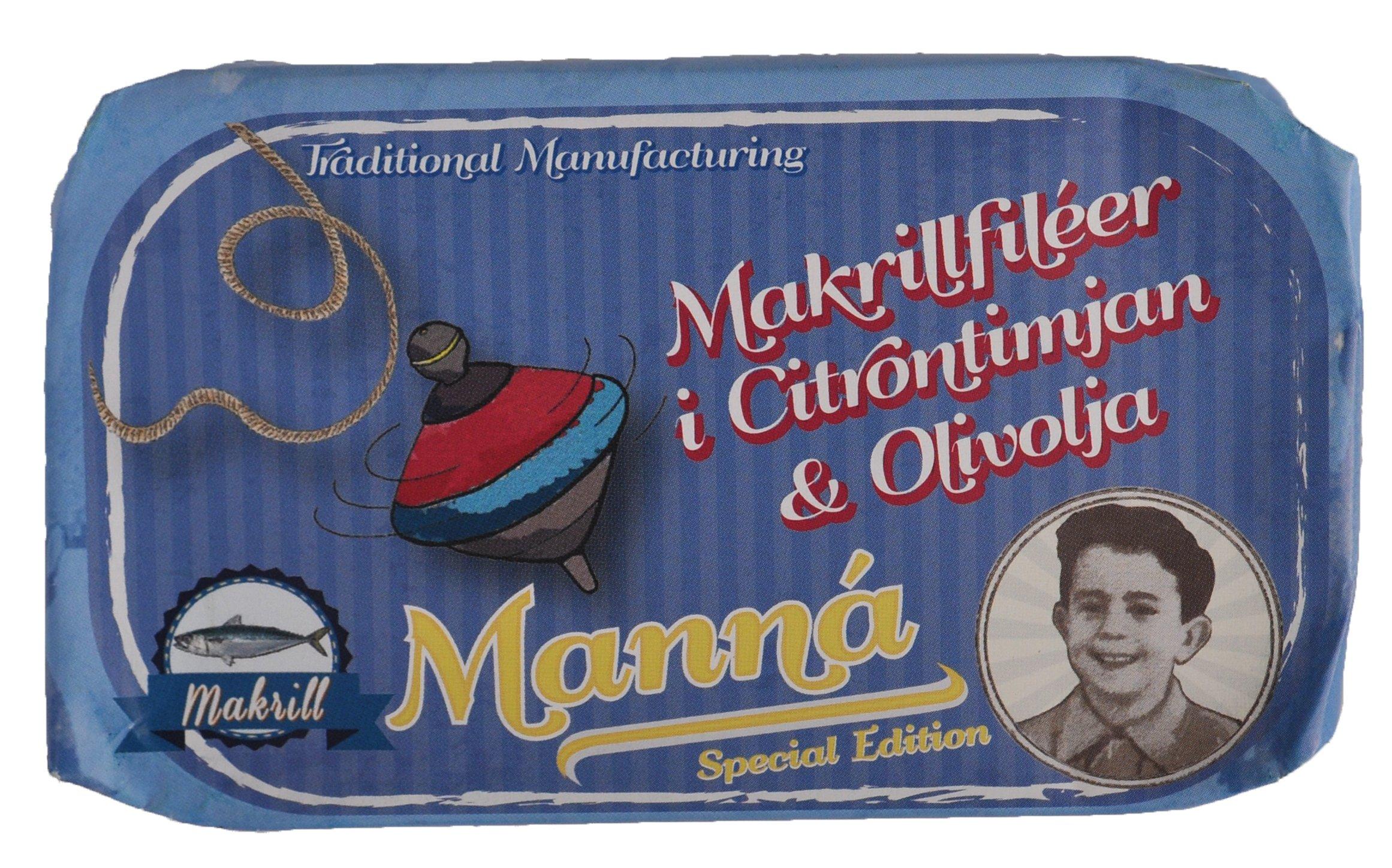 Makrillfiléer i Citrontimjan & Olivolja