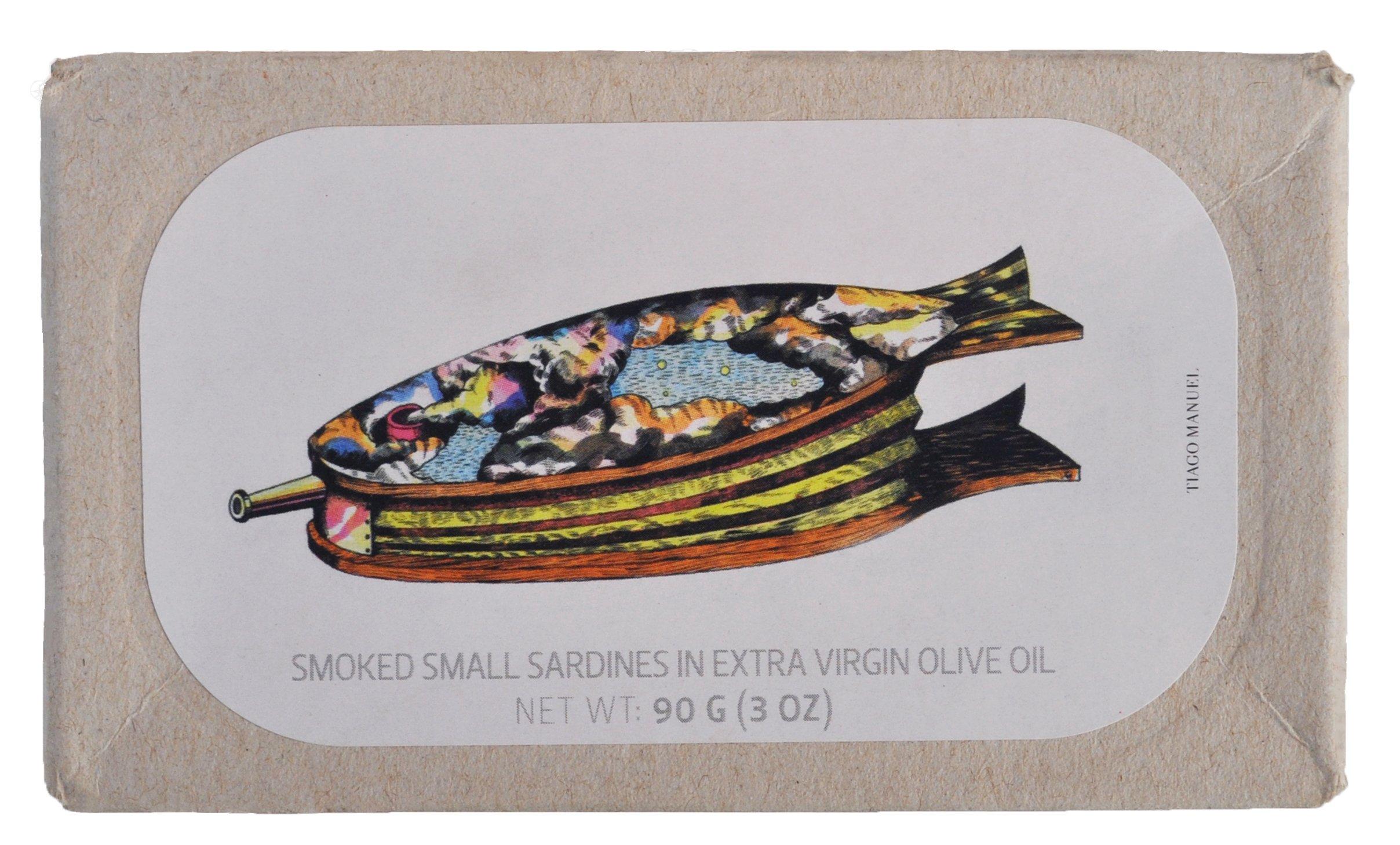 Rökta Små Sardiner i Extra Virgin Olivolja x 2