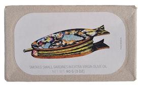Rökta Små Sardiner i Extra Virgin Olivolja
