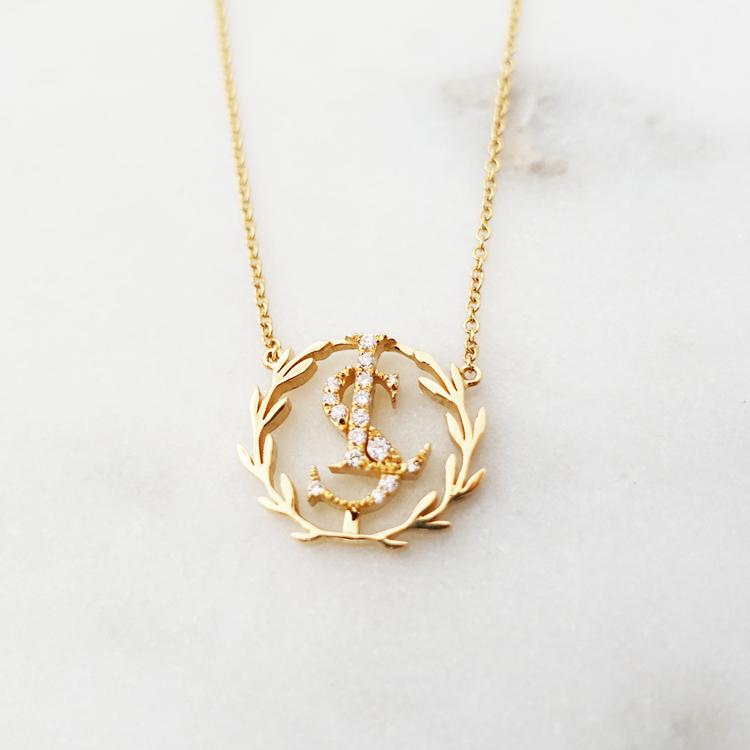 Lundsberg monogram necklace