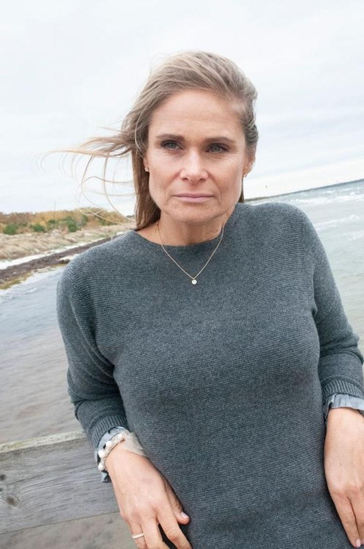 Cashmere sweater silk detail grey, size M