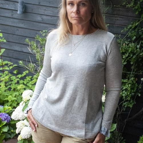 Cashmere/silk mix, sweater, grey