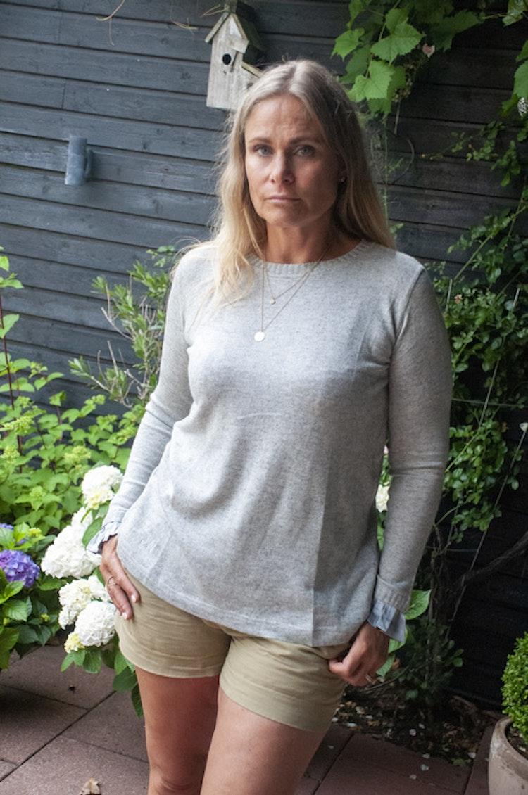 Kashmir/silke mix tröja, grå