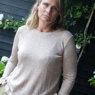 Cashmere/silk mix, sweater, beige