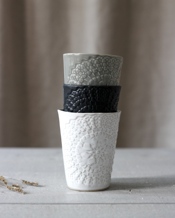ETHNIC CERAMIC MUG BLACK