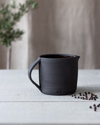 BLACK CERAMIC PITCHER