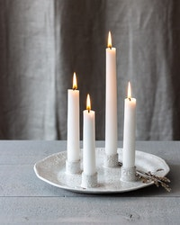 LARGE CERAMIC CANDLEPLATE