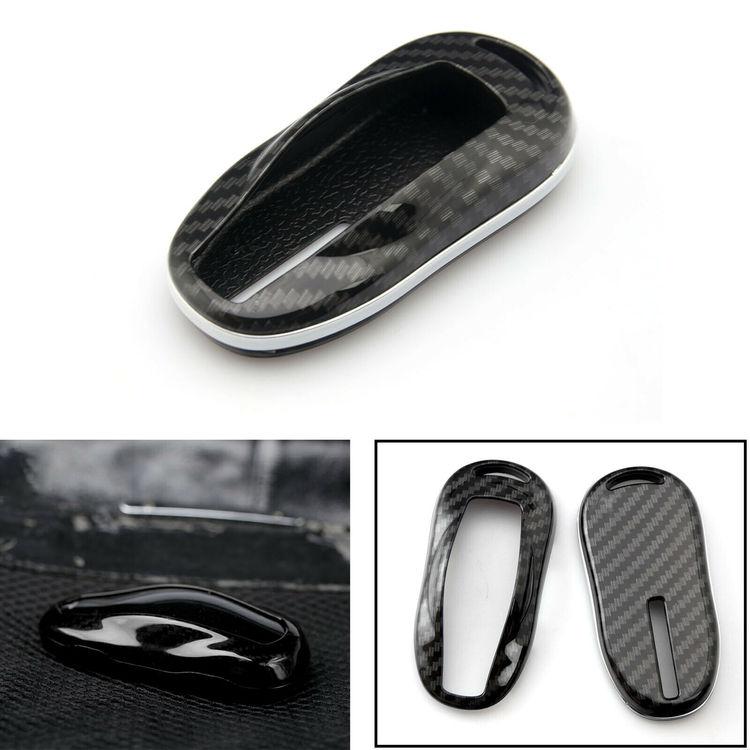 Model S keyfob skydd kolfiber utseende