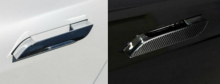 Model S Dörrhantag med kolfiber utseende