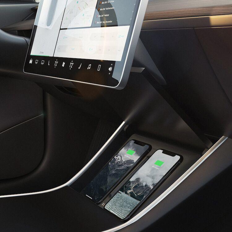 Model 3 QI-laddare mattsvart
