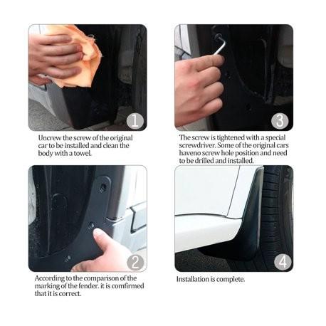 Model S Stänkskydd mattsvart kraftig modell ink skyddsfilm