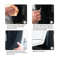 Model S Stänkskydd vita ink skyddsfilm