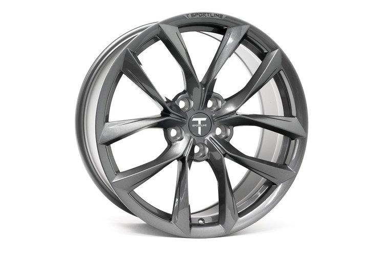 """T-sportline Model S 19"""" TSS Arachnid style space gray (4 fälgar)"""