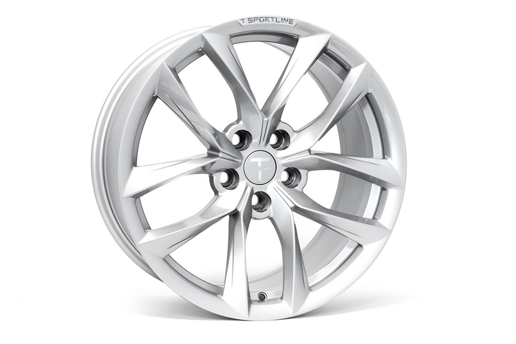 """T-sportline Model 3 18"""" TSS Arachnid style silver (4 fälgar)"""