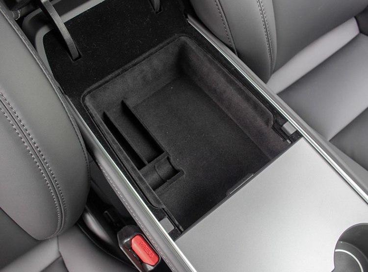 Model 3 & Y förvaringslåda armstad tyg