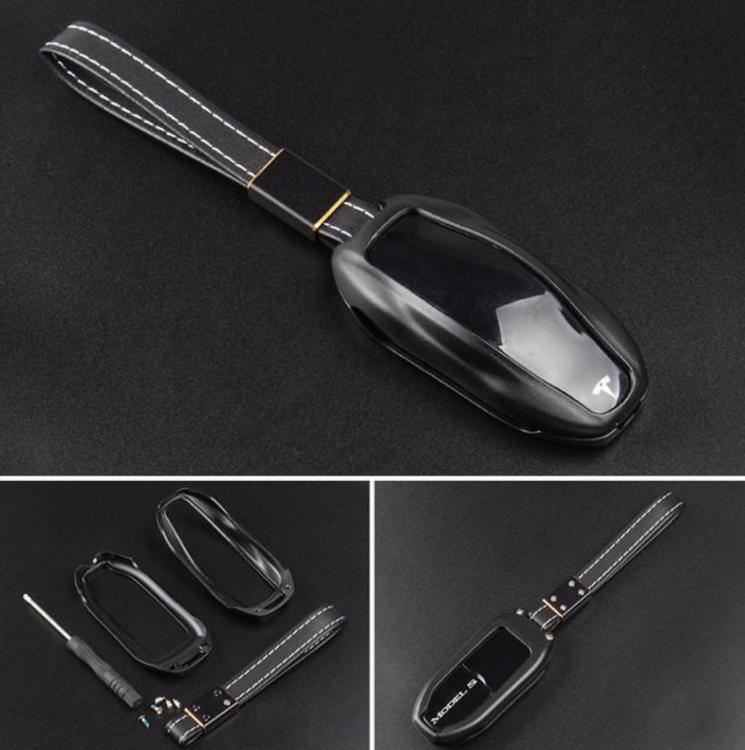 Model S keyfob skydd i många färger metall