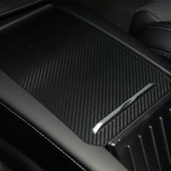 Model S/X mittenkonsoll carbon fiber wrap, matt