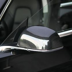 Model 3 sidospeglar i ABS med kolfiber utseende