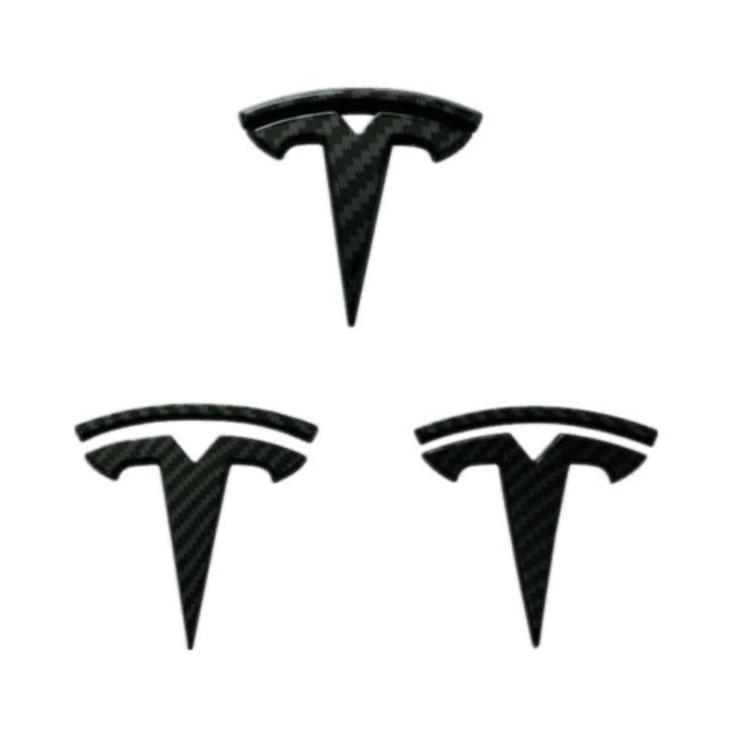 Model 3 kolfiber trim för T märke