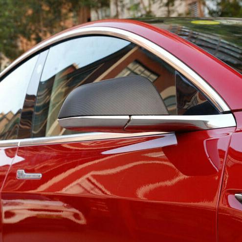 Model 3 sidospeglar i kolfiber, matt