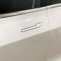 Model 3 Dörrhantag blank vit