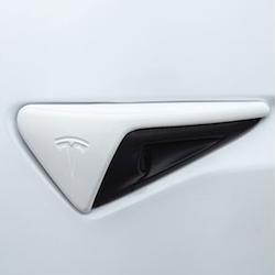 Sidoblinkers i ABS med vitt utseende